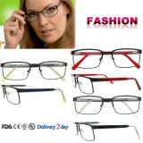 Italy Design Eyeglasses China Spectacle Metal Frame Reading Glasses
