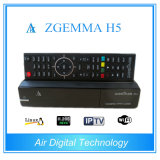Combo Receiver Zgemma H5 with Bcm73625 Dual Core DVB-S2+DVB-T2/C Hybrid Tuners Hevc H. 265 HD Receiver