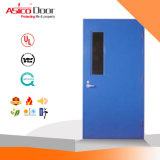 Metal Door Galvanized Steel Fire Proof Door with Exit Panic Push Bar