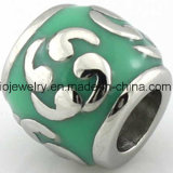 Metal Jewelry Teal Epoxy Bead