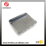 Rol2-1 Metal Iron Tobacco Rolling Box Cigarette Roller Case Siver with Arch Back