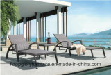 Welded Aluminium Frame Outdoor Sun Resist Rattan Chaise Lounge (TG-3023)