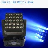 25*12W RGBW Matrix Beam LED Moving Head Stage Lighting