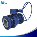 Cast Steel Gear Operated Full Bore Trunnion Mounted Ball Valve