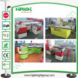 Store and Shop Cashier Counter with Conveyor Belt