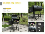Outdoor Charcoal BBQ Grill with Wheels