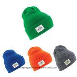High Quality Free POM Custom Knit Acrylic Beanie Caps