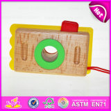 2015 New Product Kids Wooden Mini Toy Camera, Cute Wooden Craft Camera for Children, Creative Hot Sale Wooden Camera Toy W01A075