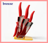 Red Fruit Knife/Meat Knife/Bread Knife Sets with Peeler