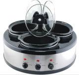 Hot Sale Round Shape Triple (3X1.6qts) Slow Cooker Buffet