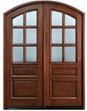 Double Interior Swing Solid Wooden Door, Door Price