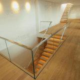 Internal Stairwell Aluminum Glass Railing Design
