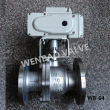 2-Way Flanged Floating Ball Valve with Electric Actuator