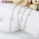 Fashion Silver Color Rhodium Plating Women Pearl Neckalce (42409)