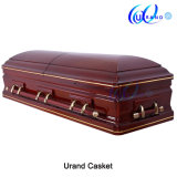 Popular Design High Gloss with Golden Trim Coffin and Casket
