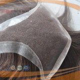 Human Hair Hand Tied Lace Front Mens Toupee