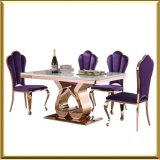 Rainbow Rose Gold Dining Room Table and Chair Set / Dining Table Set