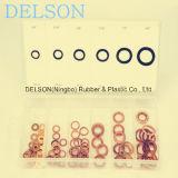 Crush Washer/Gasket Kit 6size 110PCS O Ring Copper & Aluminum