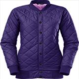 2015 Ladies Purple Long Elegant Warm Winter Casual Jacket
