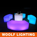 LED Flash Light Curved Bench Chair