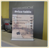 Mini Table Top Scrolling Banner Stand, Table Roll up Banner