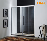 Four Tempered Glass Panel Shower Enclosure Two Fixed Two Sliding Door Screen Room Bathroom Accessories Steel Barn Door Shower Cubicle