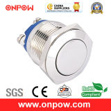 Onpow 19mm Metal Pushbutton Switch (GQ19F-10/N, CCC, CE, RoHS Compliant)