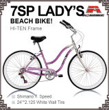 24 Inch 7 Speed Beach Bicycle for Lady (ARS-2404S)