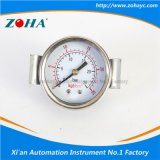 Double Dial Scale Steel Case Pressure Gauges with U Clamp