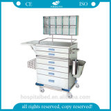 AG-At015 Cheap Good Quality Hospital Instrument Crash Cart Medical Trolley