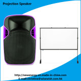 Popular 12 Inches Plastic Speaker Box with LED Projector