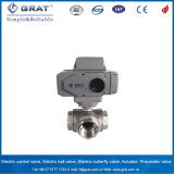 L Shape Channel 3 Way Stainless Steel Electric Ball Valve