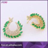 Ladies Earrings Designs Pictures Brass Zirconia Earring