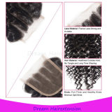 100% Raw Unprocessed Brazilian Curly Virgin Hair Lace Closure 4*4