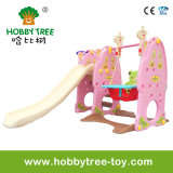 2017 Best Gift for Girls with Plastic Slide and Swing Toys (HBS17018D)