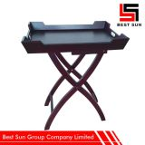 Foldable Wooden Tray Rectangle, Portable Restaurant Furniture