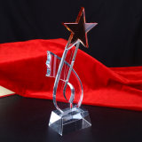 Fashionable Crystal Glass Trophy for Souvenir