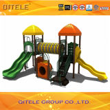 Children Playground Equipment with Enclosed Bones Bridge