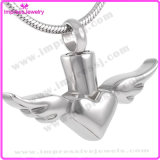 Ijd8179 Flying Heart New Style Stainless Steel Cremation Pendant Necklace Ashes Keepsake Urn Memory Locket
