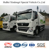 6-8cm Sinotruk HOWO Euro 4 Garbage Delivery Compactor Truck with Man Engine