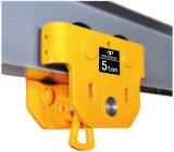 Manual I Beam Flange Width Plain Beam Anti-Drop Push Handling Trolley, Hand Push Monorail Lifting Trolley 0.5-5t