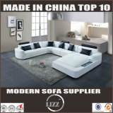 White Color Germany Design U Shape Corner Sofa