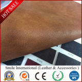 Hot Sell Semi-PU Artificial Leather Can Do for Shoes, Handbag, Sofa and So on
