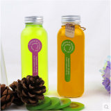 350ml Square Glass Bottles for Beverage, Juice Drinking, Water Bottles