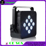 9X10W LED Flat PAR Can Battery Powered Stage Lighting