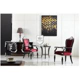 Classic Purple Restaurant Arm Chair for Sale