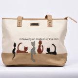 2017 Cat Pattern Fashion Shoulder Bag Leather Shopping Bag