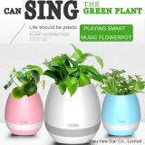 Smart Touch Music Flower Pot Bluetooth Speaker with 7 Color Light
