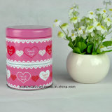 Custom Metal Round Candy Tin, Two Layers Candy Tin, Pink Double Layers Candy Tin