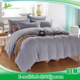 4 Pieces Cotton Light Blue Bedding for Hotel